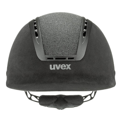 Uvex Suxxeed Glamour Riding Hat in Black - Front