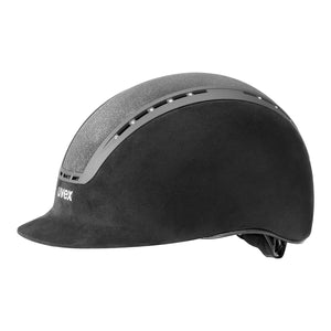Uvex Suxxeed Glamour Riding Hat in Black - Side
