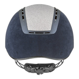 Uvex Suxxeed Glamour Riding Hat in Blue & Silver - Back