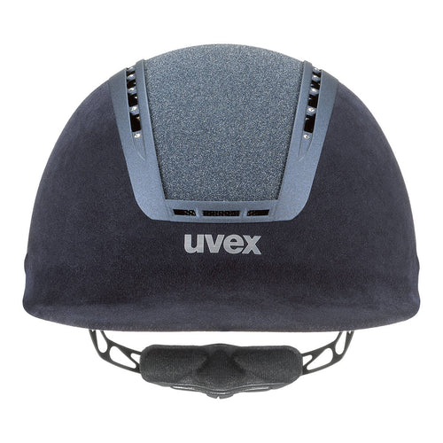 Uvex Suxxeed Glamour Riding Hat in Blue - Front