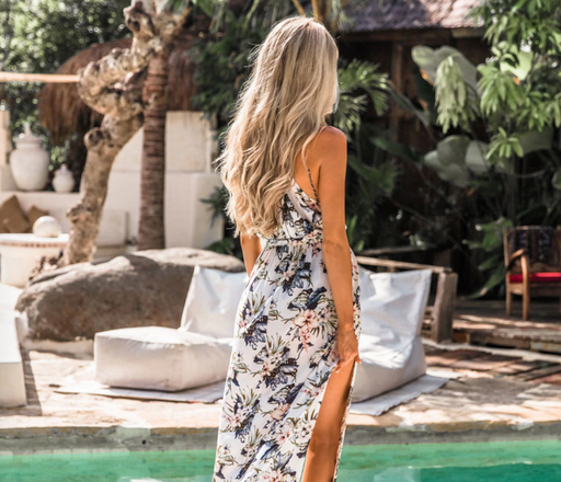 HIBISCUS — Flawless Floral O-Neck Maxi Dress