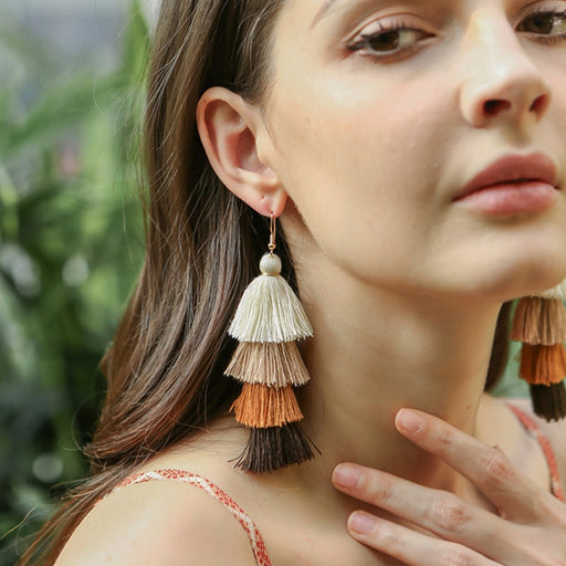 IGGY - 4-layer Tassel Earrings - BohoFestival