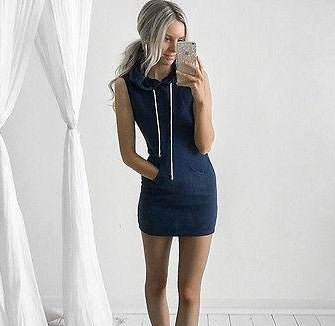 BELLÉ — Chic Sleeveless Jumper Dress