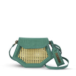 Nancy clutch - Aqua Croc