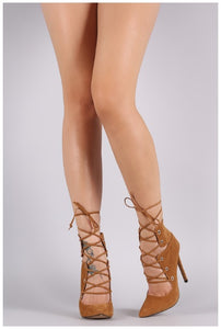 NEW DANIA CHESTNUT SUEDE PUMP