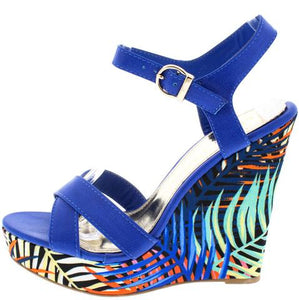 ISLAND GIRL BLUE WEDGES