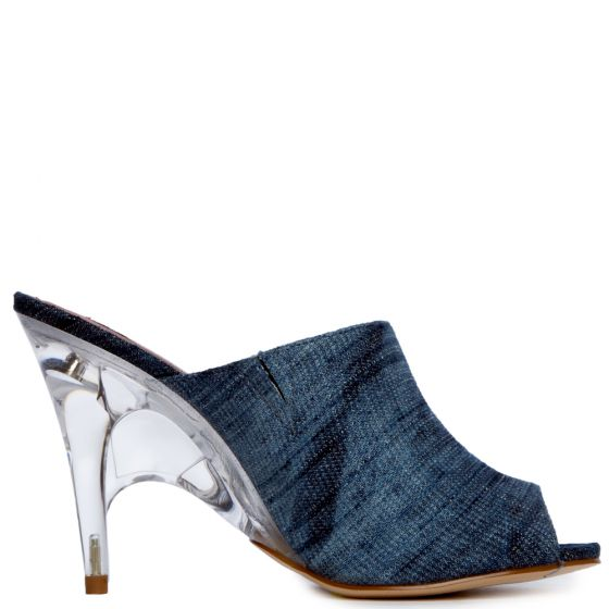 NEW Roushelle Denim Blue Heel