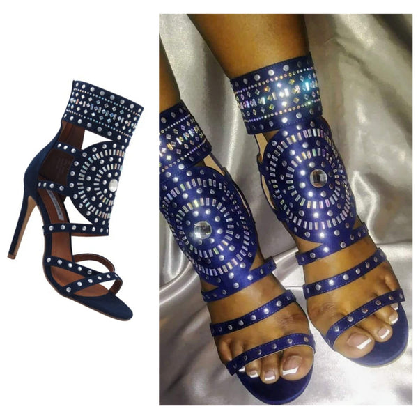 NEW TRACY RHINESTONE EMBELLISHED HEEL