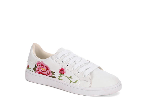 LANEY EMBROIDERED ROSETTE SNEAKERS