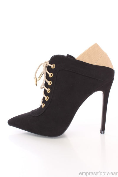 KEDRA BLACK LACE UP BOOTIES