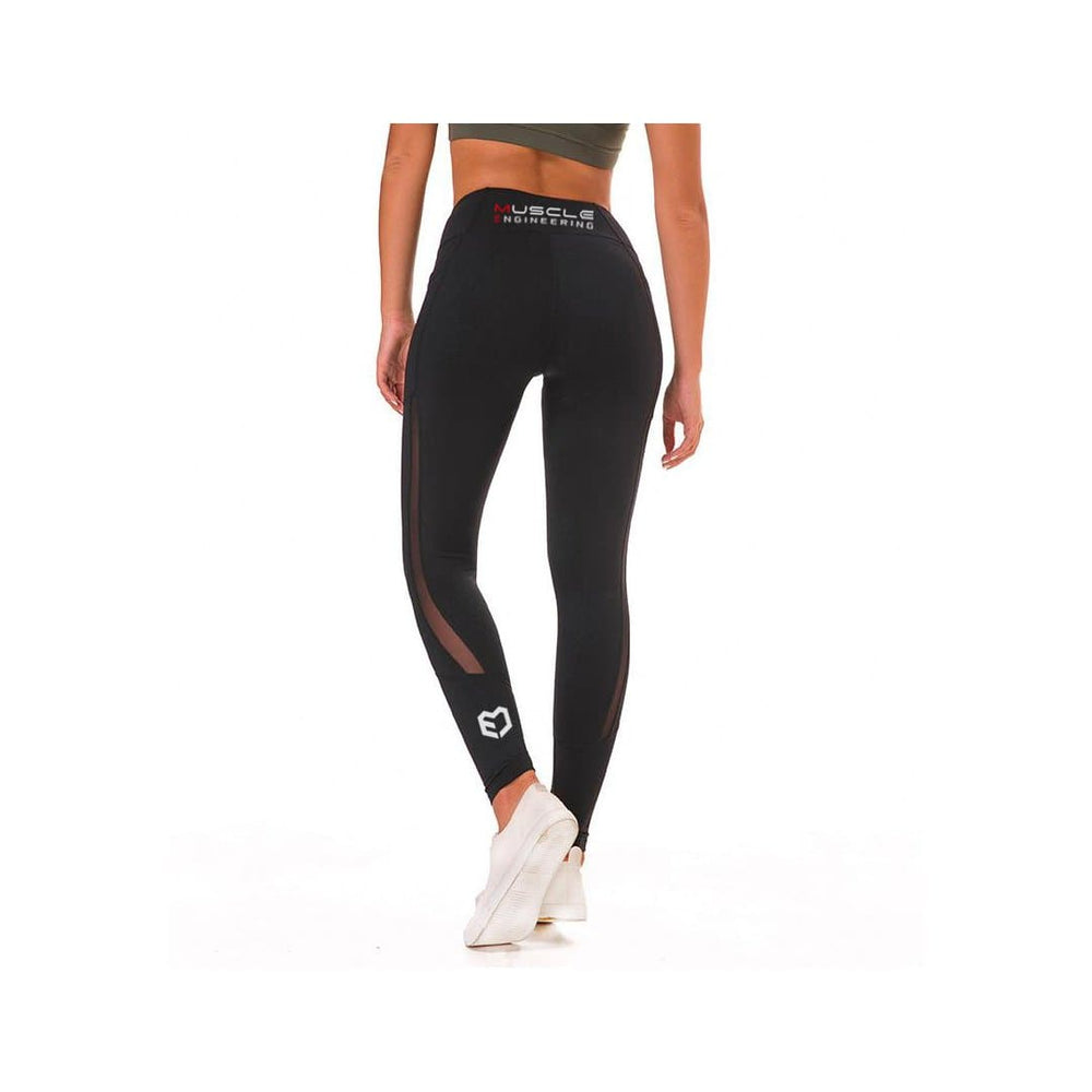 Muscle Engineering Full Length Active Leggings 1.0 Rear View With Logos