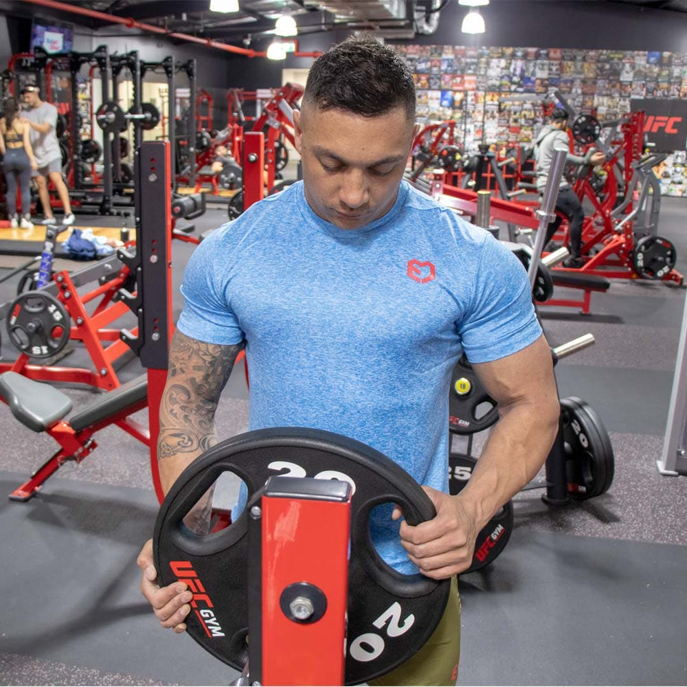 Muscle Engineering Blue Dri Fit Sports Training T Shirt Working Out Functional