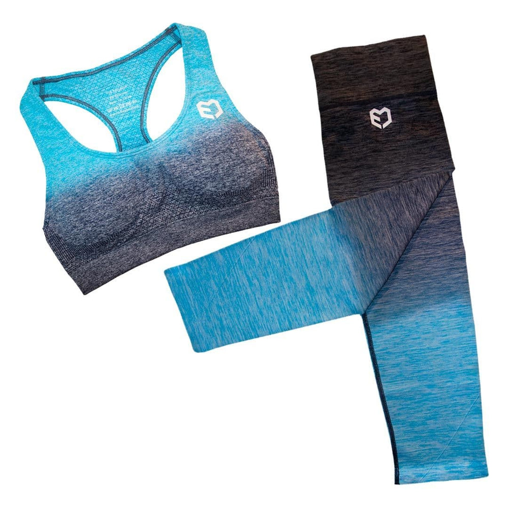 Muscle Engineering Fusion Seamless Combo Blue Envy Set Front Image
