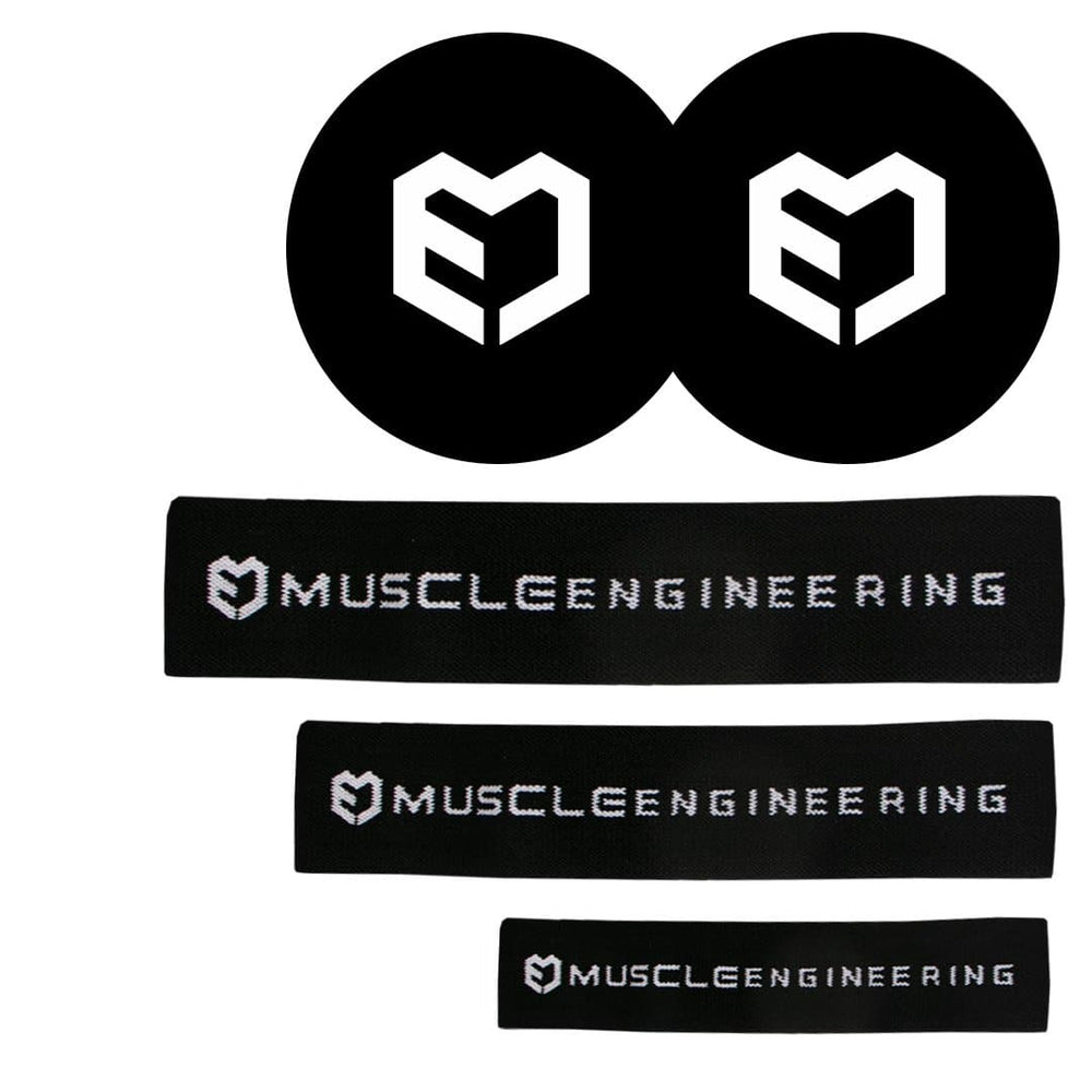 Muscle Engineering Cotton Loop Bands Pack Disc Sliders Front