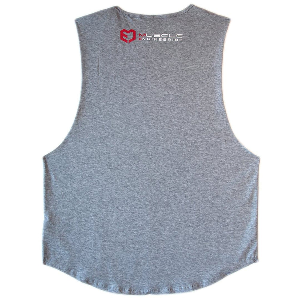 Muscle Engineering Grey Tank Back View