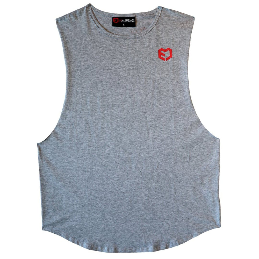 Muscle Engineering Grey Tank Front View