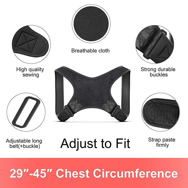 Adjustable Upper Back Posture Corrector