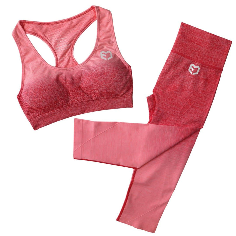 Muscle Engineering Fusion Seamless Combo Pink Set Front Image