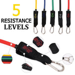 Power G - 15 Pcs Resistance Tube Bands Set