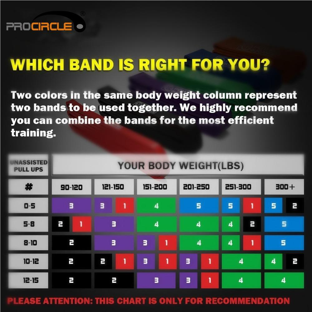 Muscle Engineering Procircle Resistance Band Chart Selector