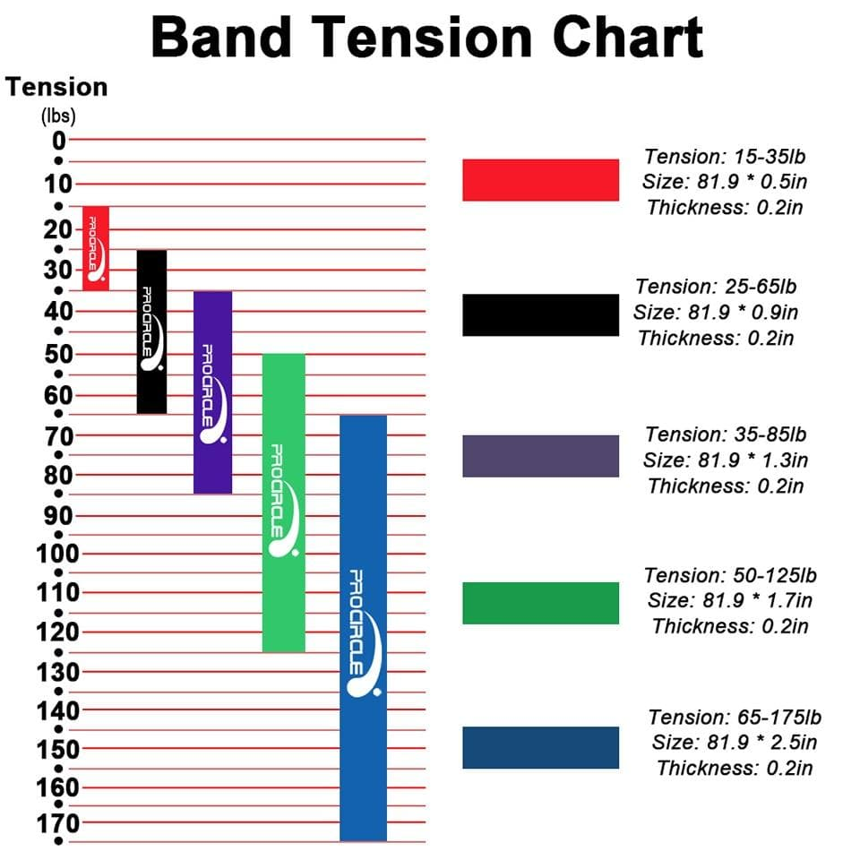 Muscle Engineering Procircle Resistance Band Tension Chart