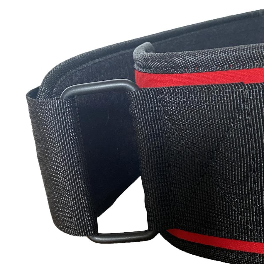 Muscle Engineering Red Strength Training Belt Side Buckle