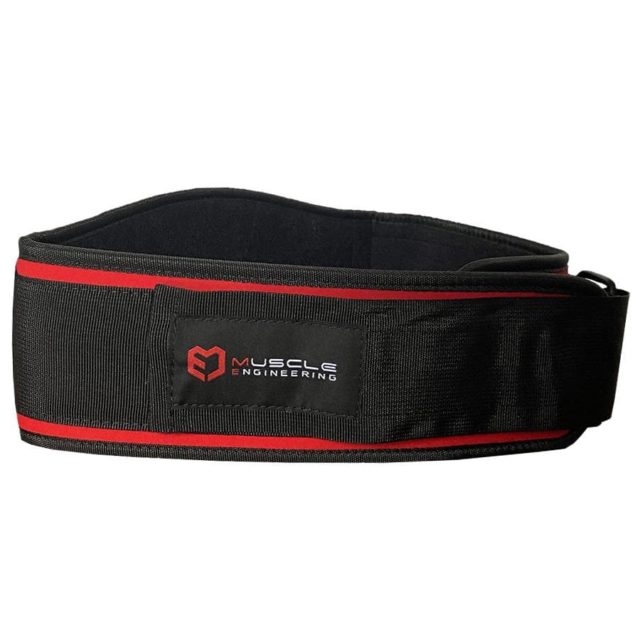 Muscle Engineering Red Strength Training Belt Side Shot