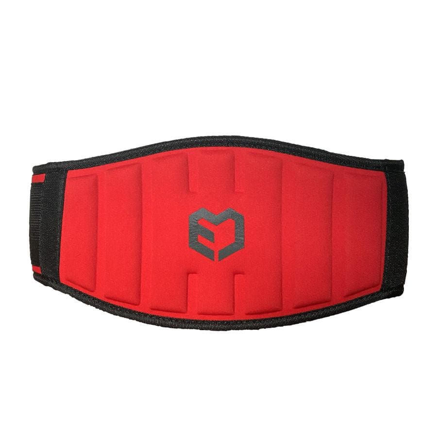 Muscle Engineering Red Strength Training Belt Front Shot