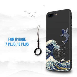 """ The Wave in Kanagawa"" - Hokusai Case For iPhone 7 / 7 Plus / 8 / 8 Plus"