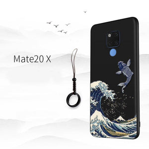 """ The Wave in Kanagawa"" - Hokusai Case For Huawei Mate 20 / Mate 20 Pro / Mate 20 X"