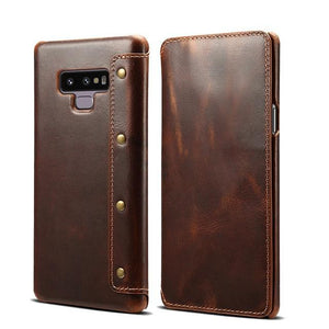 Luxury Leather Cowhide Wallet Flip Case for Samsung Galaxy Note 9