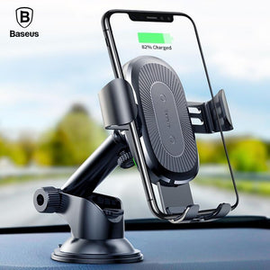 2 in1 Qi Wireless Car Charger & Phone Holder