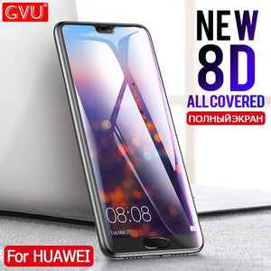8D Tempered Glass Screen Protector For Huawei P20 / Lite / Pro