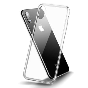 Ultra Thin Transparent Glass Case for iPhone X / Xr / Xs / Xs Max