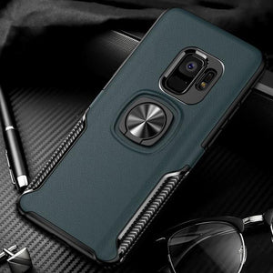 New Luxury Cases with Finger Ring & Magnetic For Car Holder for Samsung Galaxy S9, S9 Plus