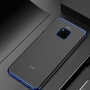 Luxury Laser Plating Soft Clear Case For Huawei Mate 20 / Mate 20 Pro