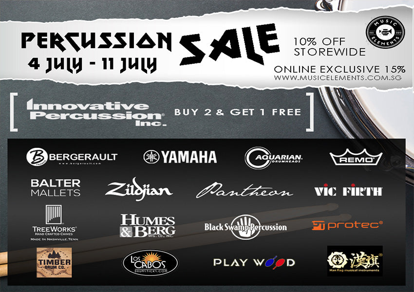 ME Percussion Sale (4th to 11th July)
