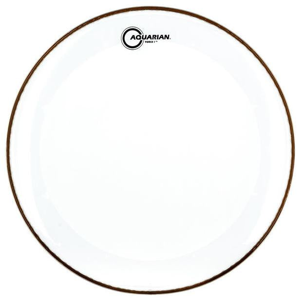 Aquarian - Force I Series Single Ply Clear Batter Bass Drum Heads-Percussion-Aquarian-Music Elements