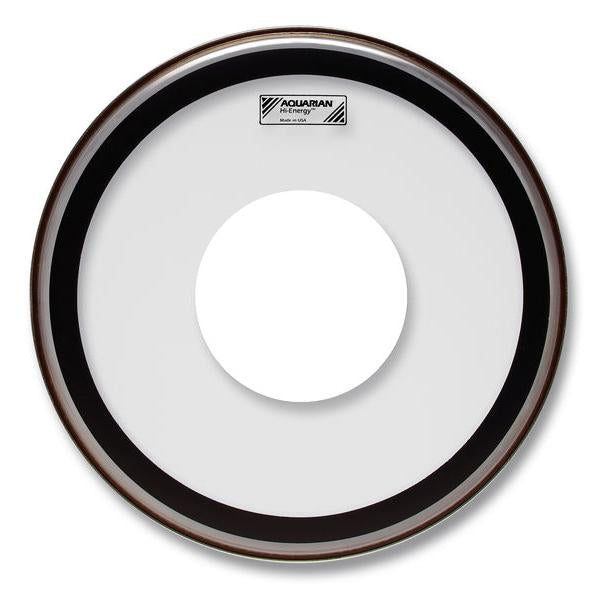Aquarian - Hi-Energy Series Single Ply Power Dot Clear Snare Drum Heads-Percussion-Aquarian-Music Elements