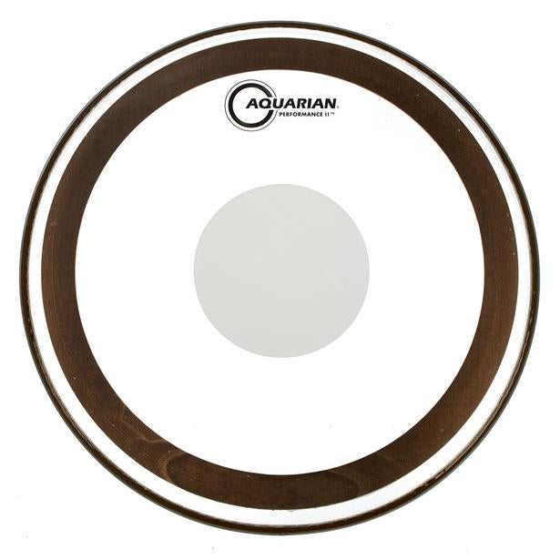 Aquarian - Performance II Series Clear Power Dot Batter Drum Heads-Percussion-Aquarian-Music Elements