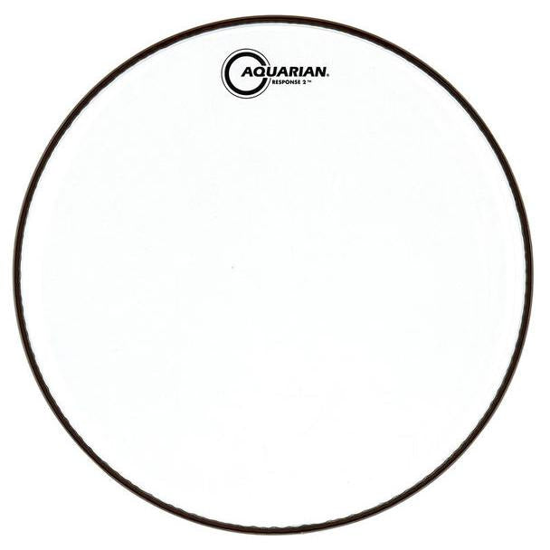Aquarian - Response 2 Series Clear Batter Drum Heads-Percussion-Aquarian-Music Elements