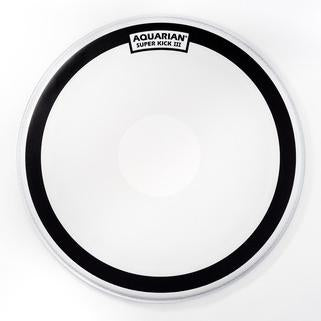Aquarian - Super Kick III Series Single-Ply Coated Power Dot Batter Bass Drum Heads-Percussion-Aquarian-Music Elements