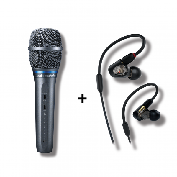 Audio-Technica - [Bundle] Winter Sonic Promotion (AE3300 Vocal Microphone + ATH-E50 Balance Armature IEM)