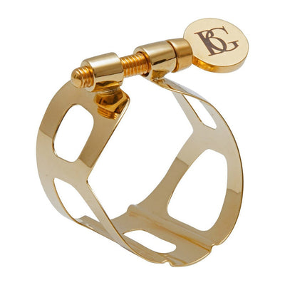 BG France - Tradition Ligatures for Soprano Saxophone-Ligature-BG France-Gold Lacquered-Music Elements
