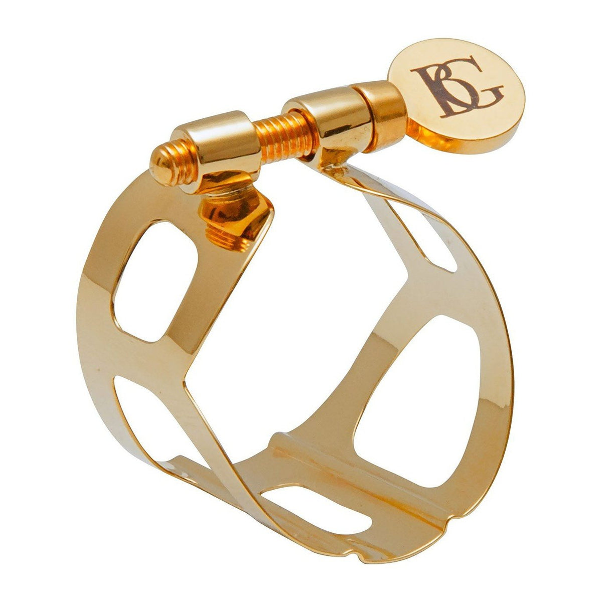 BG France - Tradition Ligatures for Soprano Saxophone-Ligature-BG France-Gold Plated-Music Elements