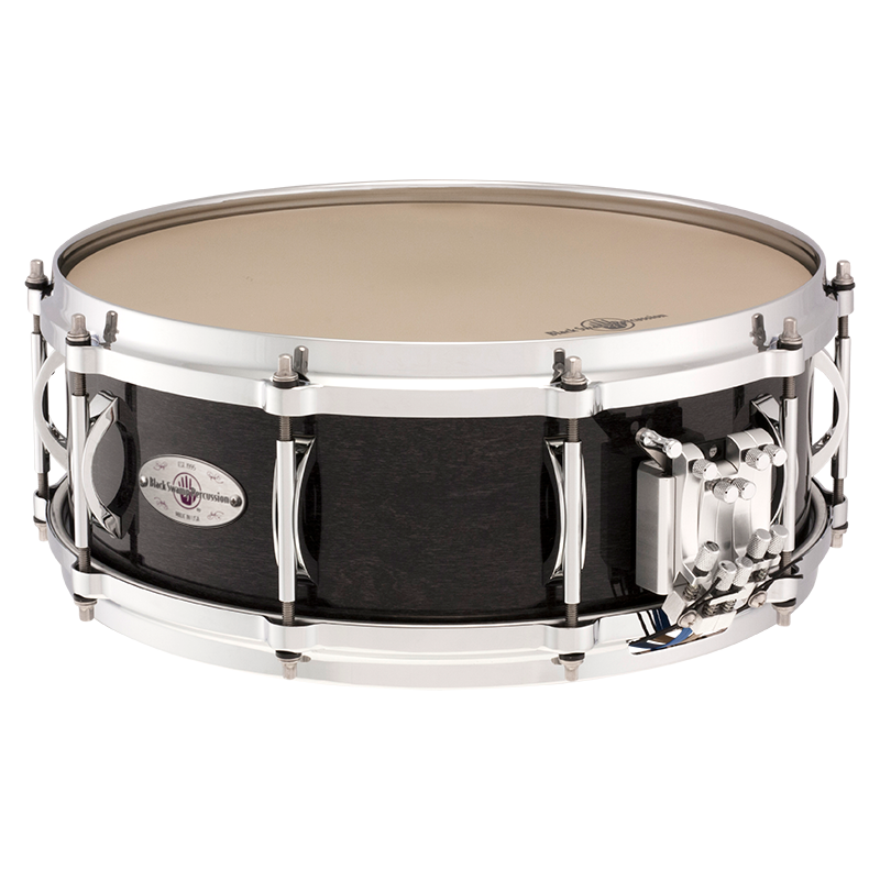 "Black Swamp - 5"" x 14"" Multisonic 7-Ply Maple Snare Drum (Concert Black)-Percussion Accessories-Black Swamp-Music Elements"