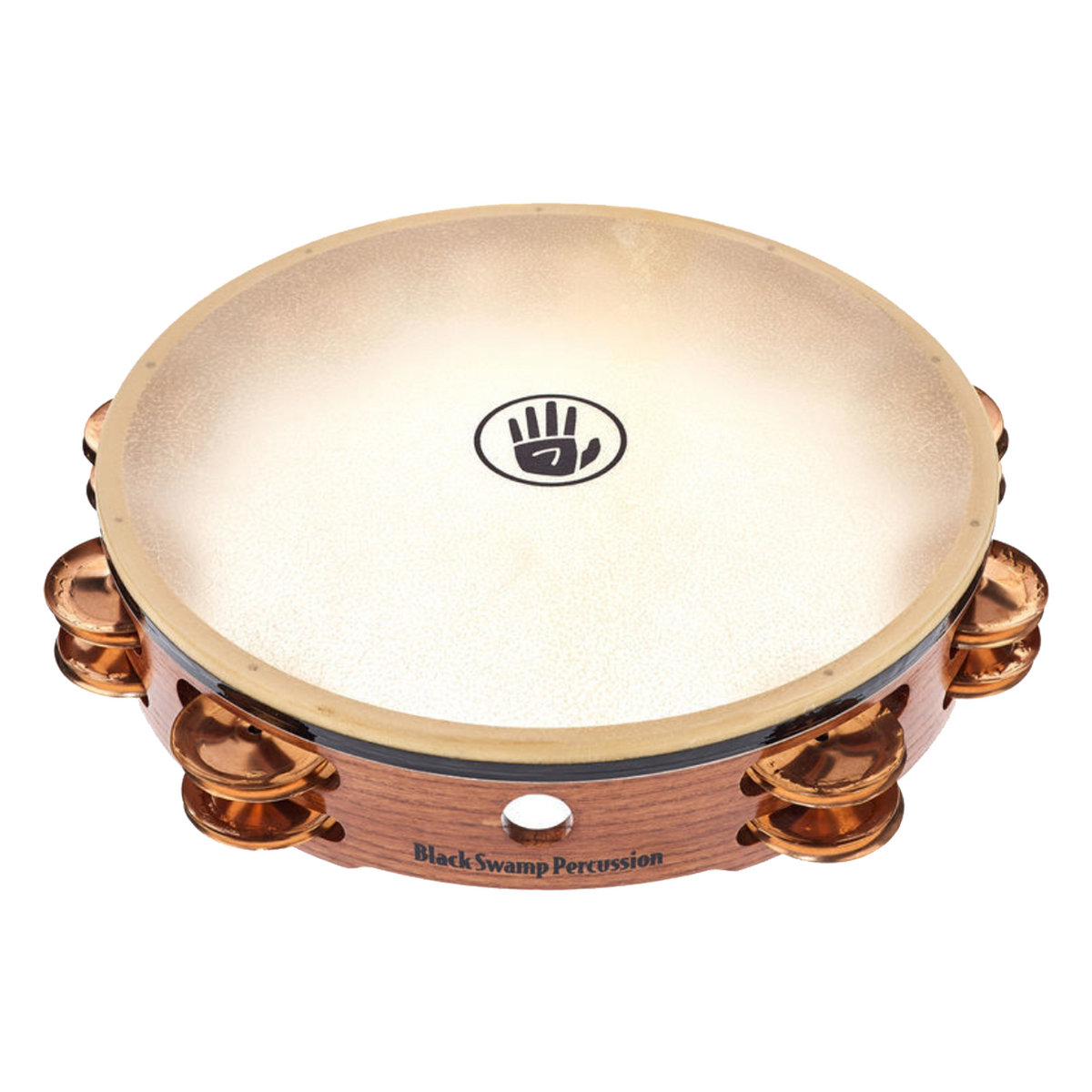 Black Swamp - Double Row Calf Head Tambourines-Percussion Accessories-Black Swamp-Beryllium Copper-Music Elements