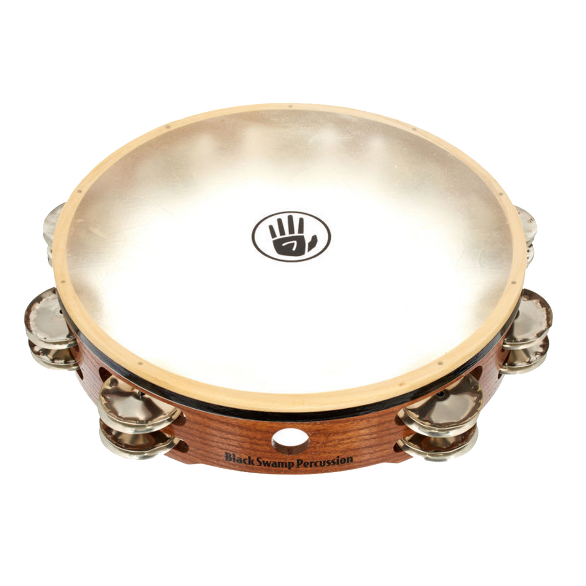 Black Swamp - Double Row Calf Head Tambourines-Percussion Accessories-Black Swamp-German Silver-Music Elements