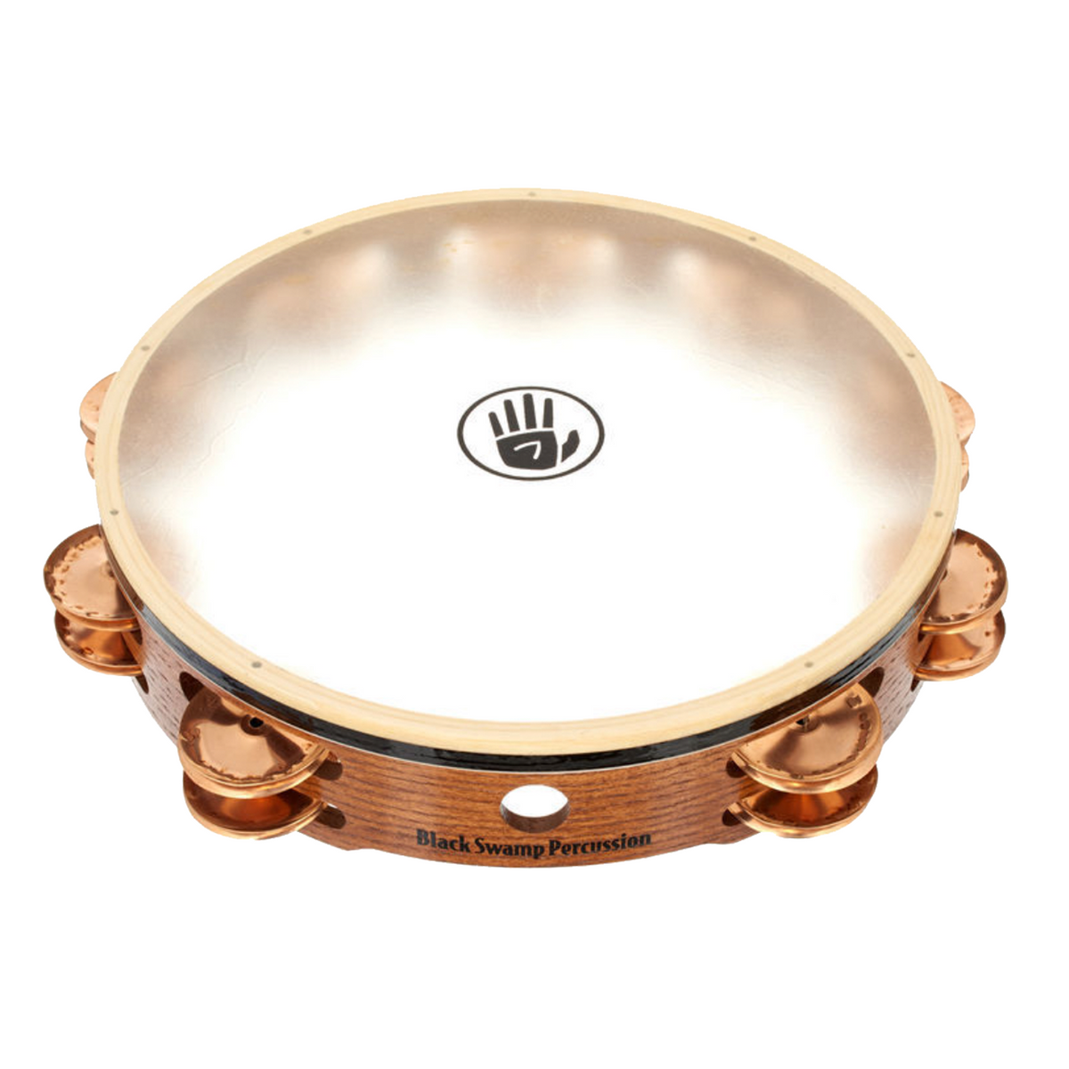 Black Swamp - Double Row Calf Head Tambourines-Percussion Accessories-Black Swamp-Phosphor Bronze-Music Elements
