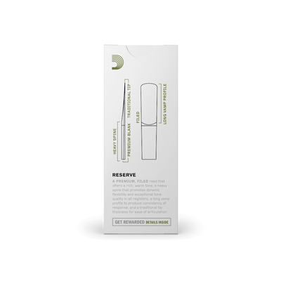 D'Addario - Reserve Tenor Saxophone Reeds-Reed-D'Addario-Music Elements